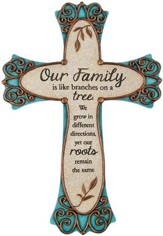 Our Family, Resin Wall Cross