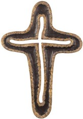 Modern Wall Cross, Black and Gold