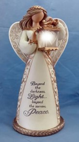 Bereavement Angel Figurine, Beyond the Darkness Light, Solar Powered