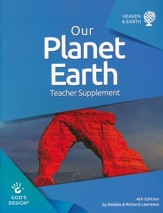 God's Design for Heaven and Earth:  Our Planet Earth Teacher  Guide (4th Edition)