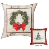Christmas Cabin Patch Pillow