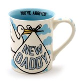 New Daddy, Our Nest Has Been Blessed, Mug, Blue