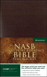 NAS Giant Print Reference Bible, Personal Size, Imitation leather, Burgundy