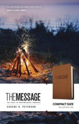 The Message Bible, Compact Soft leather-look, tan