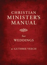 Christian Minister's Manual for Weddings - eBook