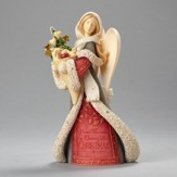Heart Of Christmas, Angel with Winter Basket Figurine