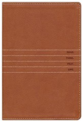 The Message Personal-Size Bible--soft leather-look, saddle tan - Slightly Imperfect