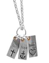 Faith, Hope, Love Tags Necklace