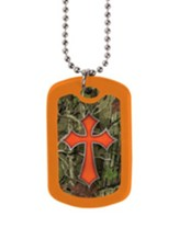 Camo Cross, Tag Necklace