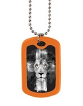 Lion Cross, Tag Necklace