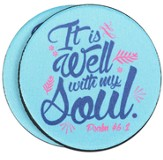 It Is Well With My Soul Auto Coaster