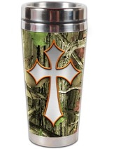 Camo Cross, Be Still and Know Travel Tumbler