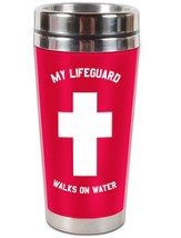 My Lifeguard Walks On Water Travel Tumbler