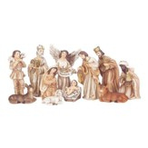 Nativity Set, Neutral Tone, 11 Pieces, 3 Inches