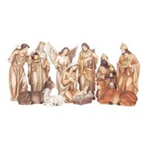 Nativity Set, Neutral Tone, 11 Pieces, 6 Inches