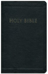 KJV Giant Print Reference Bible-Personal Size, Bonded Leather, Black, Thumb Index