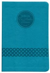 Biblia Tu Andar Diario RVR 1960, Piel Imit. Azul Verdoso  (RVR 1960 Your Daily Walk Bible, Imit. Leather, Teal)
