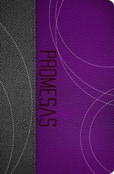 Biblia de Promesas RVR 1960: Edicion Jovenes, Piel Esp. Purp./Gris  (RVR 1960 Promise Bible: Youth Ed., Sp. Leather Purple/Gray) - Slightly Imperfect