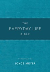 Everyday Life Bible: The Power of God's Word for Everyday Living--soft leather-look, teal