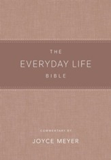 Everyday Life Bible: The Power of God's Word for Everyday Living--soft leather-look, blush