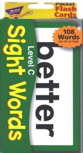 Sight Words Pocket Flash Cards Level C
