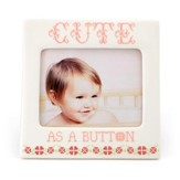 Cute As A Button Photo Frame, Pink