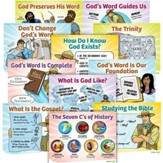 Answers Bible Curriculum Year 1 Quarter 1 Lesson Theme Posters (Grades 1-6)