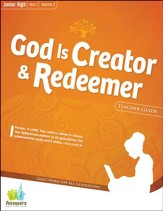 Answers Bible Curriculum: God is Creator & Redeemer Junior High Teacher Guide with DVD-ROM Year 1 Quarter 2