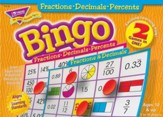 Fractions, Decimals, Percents Bingo  Game