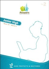 Answers Bible Curriculum Year 2 Quarter 4 Jr. High Teacher Kit