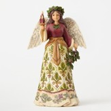 Heartwood Creek, Victorian Holly Angel Figurine