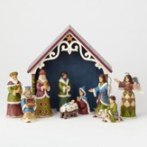 Heartwood Creek, Mini Victorian Nativity Set, 10 pieces