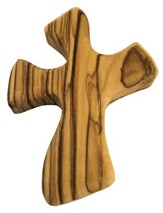 Pocket Olive Wood Cross, Small