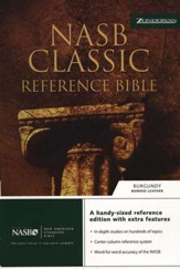 NAS Classic Reference Bible, Bonded Leather Burgundy
