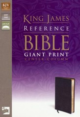 KJV Giant Print, Center-Column Reference, bonded black