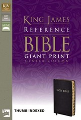 KJV Giant Print, Center-Column Reference, bonded black,  Thumb-Indexed