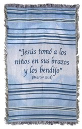 Children's Throw Blanket, Blue, Spanish