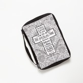 Color Me, Cross, Bible Cover, Large