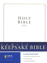 NIV Family Keepsake Bible, Padded Hardcover - Slightly Imperfect