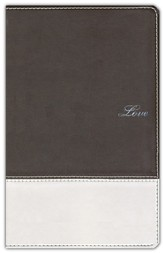 NIV Couples' Devotional Bible, Soft Leather-Look--Chocolate/Silver 1984 - Imperfectly Imprinted Bibles
