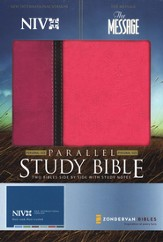 NIV Message Parallel Orchid Raspberry  - Imperfectly Imprinted Bibles