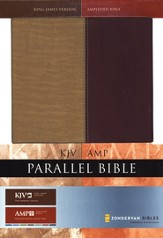 KJV/Amplified Parallel Bible; Italian Duo-Tone, gold/rich red