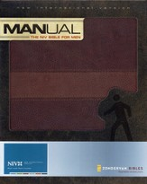 Manual: The NIV Bible for Men Italian Duo-Tone, Chocolate/Dark Caramel - Slightly Imperfect