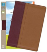 NIV Quest Study Bible: The Question and Answer Bible, Imitation Leather, Burgundy Tan