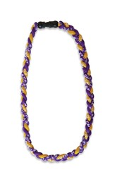 Be Strong and Courageous Sports Necklace, Purple and Gold
