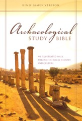 KJV Archaeological Study Bible: An Illustrated Walk Through Biblical History and Culture - Slightly Imperfect