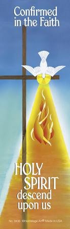 Holy Spirit Descend on Us, Confirmation Bookmarks, Pack of 25