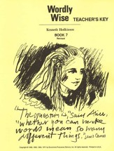 Wordly Wise, Book 7, Grade 10-Teacher's Key