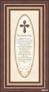 The Serenity Prayer with 3D Cross Framed Print
