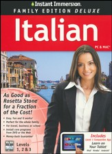 Instant Immersion Family Edition Deluxe Italian Levels 1, 2, & 3 on CD-Rom